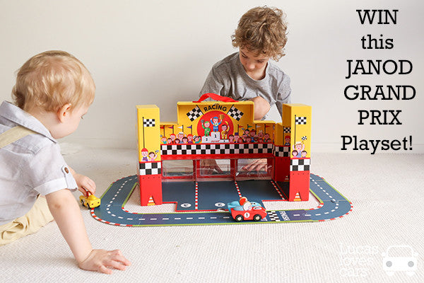 Win a Janod grand prix playset