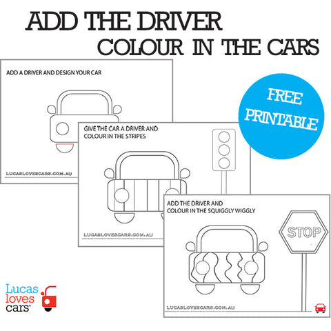ADD THE DRIVER FREE PRINTABLES | Lucas loves cars