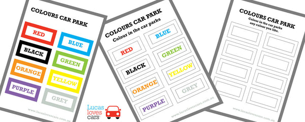 Colour in Car Park free Printable