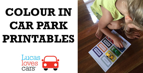Colour In Carparks Free Printable