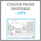 Colour pages printable - city