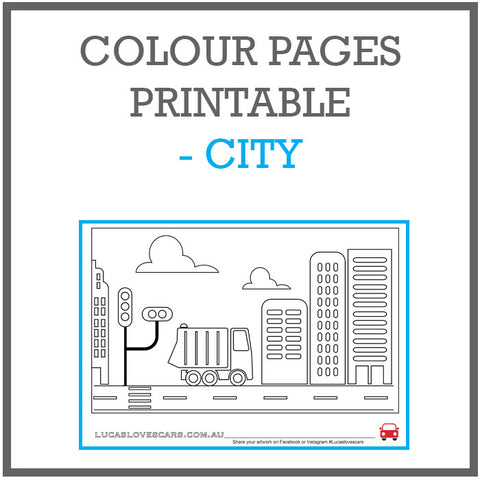 Colour pages city printable