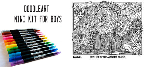 DoodleArt Cars colour in