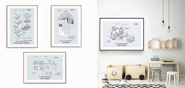 Invention of toys prints - Fathers day - Lucas loves cars