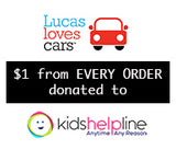 Lucas loves cars supporting Kids Helpline