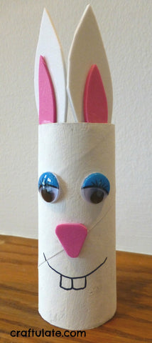 Easter bunny toilet roll craft