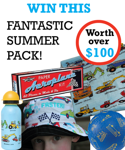 Summer prize pack Lucas loves cars