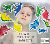 Bath toys - can be dangerous.