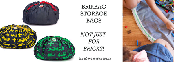 Brikbag toy storage | Lucas loves cars