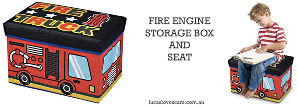 Fire Truck Storage Seat | Lucas loves cars
