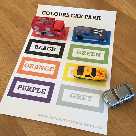 Colour in Car Park Printables