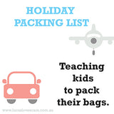 Teaching kids to pack their bags
