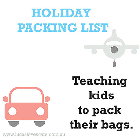 Printable kids packing list | Kids holidays | Lucas loves cars