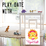 Play date with Tiger Tribe - Lucas loves cars