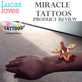 LUCAS LOVES...  MIRACLE TATTOOS