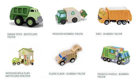 Rubbish truck toys for kids