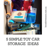 5 SIMPLE TOY CAR STORAGE IDEAS