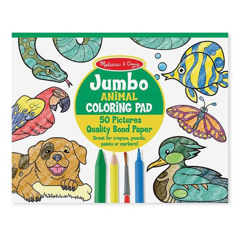 Jumbo Colouring Pad - Animals