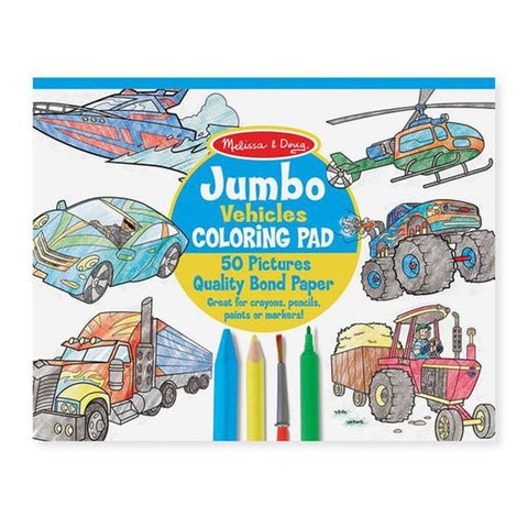 Melissa and doug | Jumbo colouring Pad Vehicles | Lucas loves cars