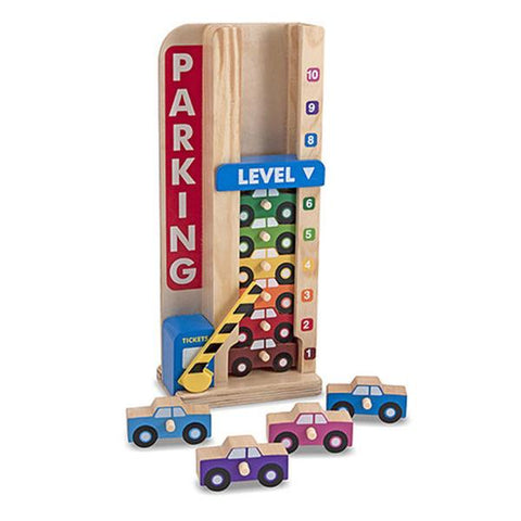 Stack and Count Parking Garage | MELISSSA AND DOUG | Lucas loves cars