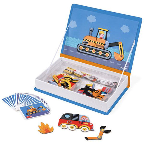 Racecars toy | Janod Magnetibook | Lucas loves cars