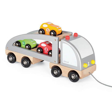 Janod Car Transporter | Lucas loves cars