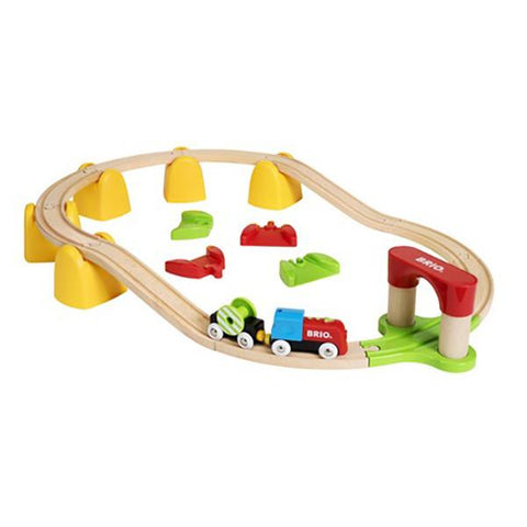 BRIO First Wooden Train set  |  Wooden train toys |  Lucas loves cars
