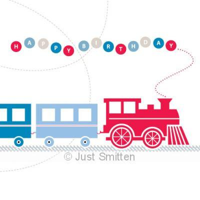 Train lover birthday card - Toot Toot  | Lucas loves cars
