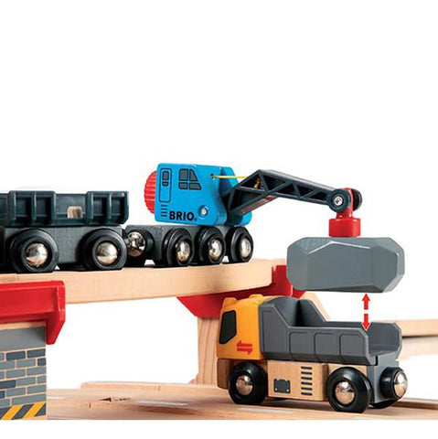 Brio wooden train and crane | Lucas loves cars