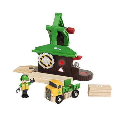 Brio Sawmill Playset | Brio trains |  Lucas Loves Cars
