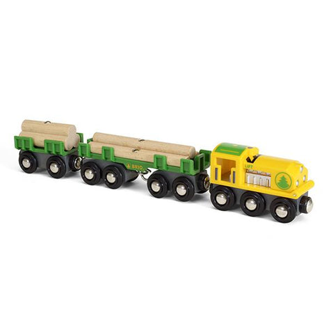 Brio lumber train | Lucas loves cars