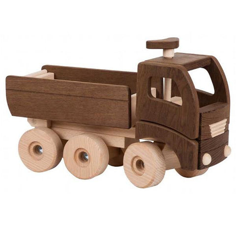 Goki Nature Wooden Dump truck | Lucas loves cars