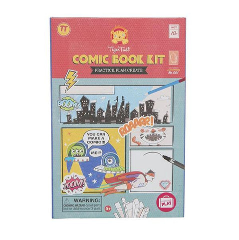 Comic Book Kit | Tiger Tribe | Gift for 5 year old | Lucas Loves Cars