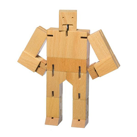 Cubebot natural wood toy | Areaware  | Wooden toys | Lucas loves cars