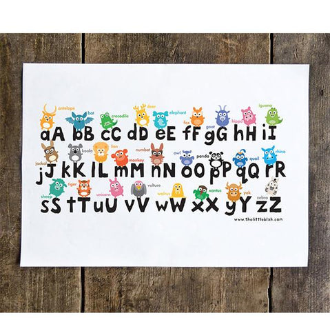 The Little blah - Alphabet Print