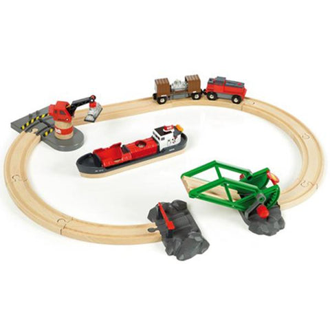 Brio trains | Cargo Harbour Set | Wooden train sets | Lucas Loves Cars