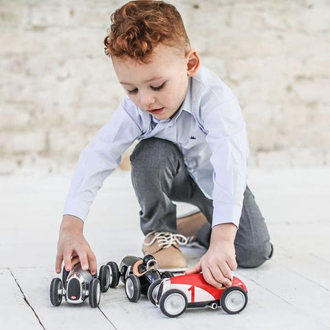 Black racing car toy | Baghera Australia  | Lucas loves cars