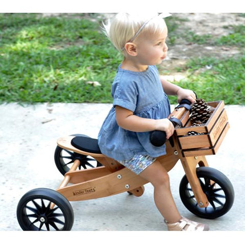 Kinderfeets Tiny tots trike bamboo | Lucas loves cars