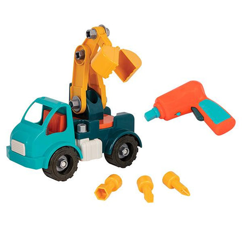 Take Apart Crane Truck  | Car toys | Battat toys | Lucas loves cars