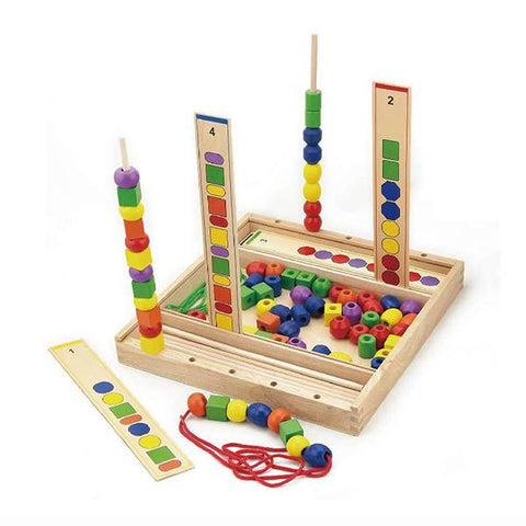 Wooden sequence beads | Lucas loves cars