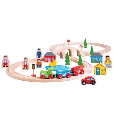 BigJigs Rail | Figure of Eight Train set  | Wooden toys | Lucas loves cars