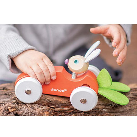 Janod Rabbit Carrot Car | Toy car | Easter gift | Lucas loves cars
