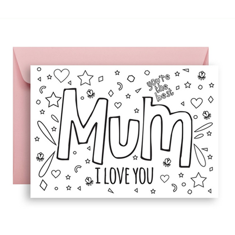 Cards - Colour me in - Mum | Sprout and Sparrow |  Lucas loves cars