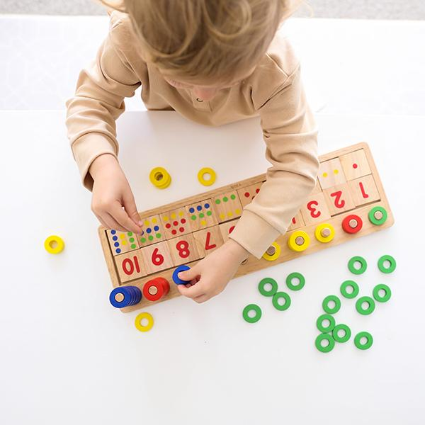 Viga Wooden Count  Match Numbers Set Childrens Maths Learning Toy