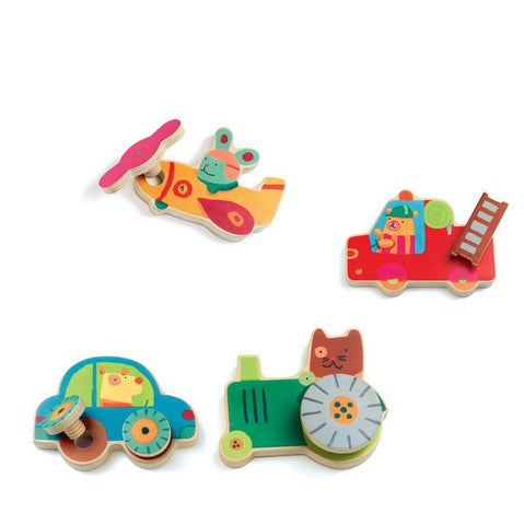 Wooden vehicle screwing puzzle | {product_vendor} |  Lucas loves cars