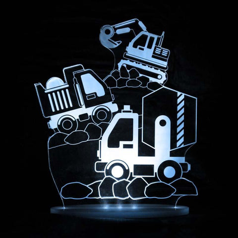 Construction trucks night light | Lucas loves cars