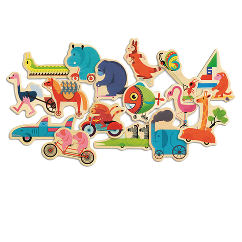 Djeco - Animal magnets | Djeco |  Lucas loves cars