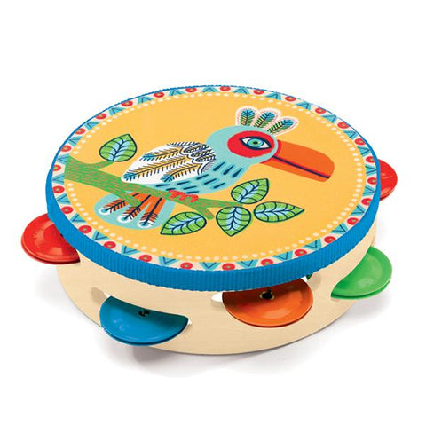 Djeco | Animambo Tambourine | music toys |  Lucas loves cars