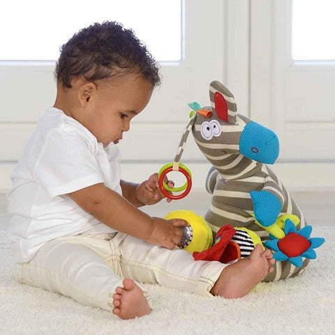 Dolce Sensory toys | Baby Gifts | Soft toy Zebra |  Lucas loves cars
