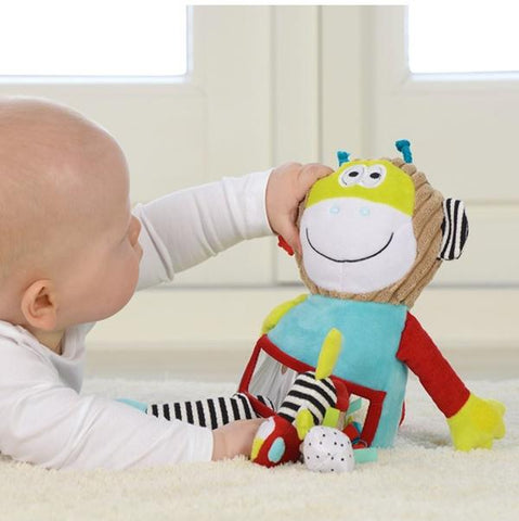 Dolce Sensory toys | Baby Gifts | Soft toy Monkey |  Lucas loves cars